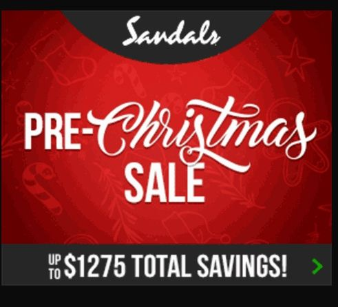 Image result for sandals pre christmas sale