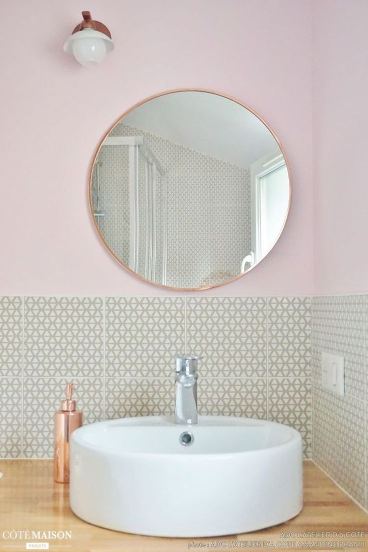 Eye Catching Blush Pink Copper Home Decor Ideas Copper Bathroom Mirror And