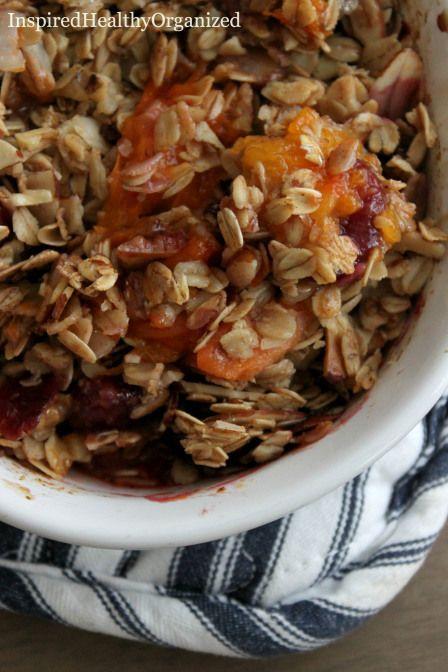Apricot Cherry Breakfast Crisp | Summer | Pinterest