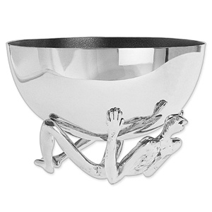 Carrol Boyes Salad Bowl - man base & silver bowl