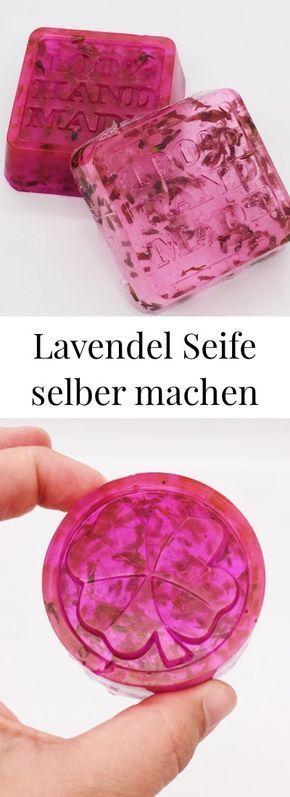 DIY Kosmetik: Seife mit Lavendel selber machen. Einfaches Rezept. Anti-Stress und Wellness für die Seele.