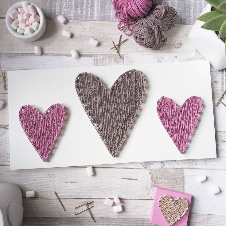 Three Hearts String Art Unique Handmade gift Home Decor Wall Hanging Love Sign Heart Wall Art Decor Birthday Gift idea by DeeisforDaisy by DeeisforDaisy on Etsy https://www.etsy.com/uk/listing/262447930/three-hearts-string-art-unique-handmade