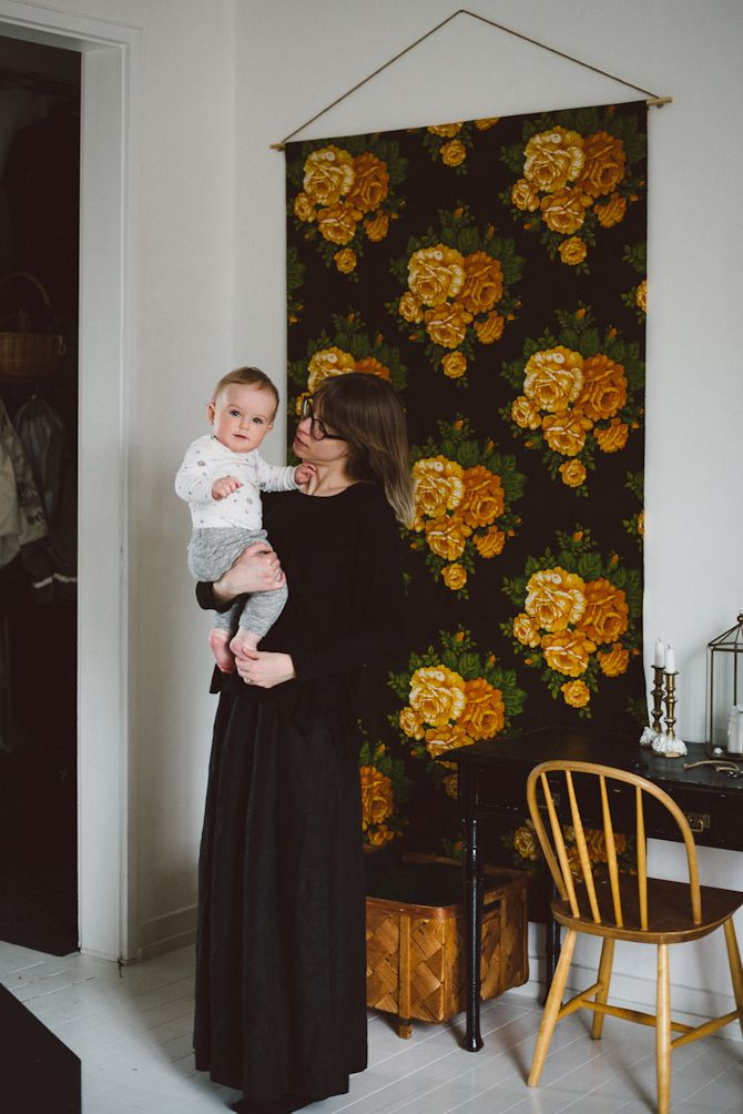 DIY: Fabric wall hanging by Babes in Boyland