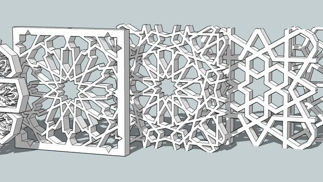 Large Preview Of 3d Model Of Islamic Pattern Wine Room