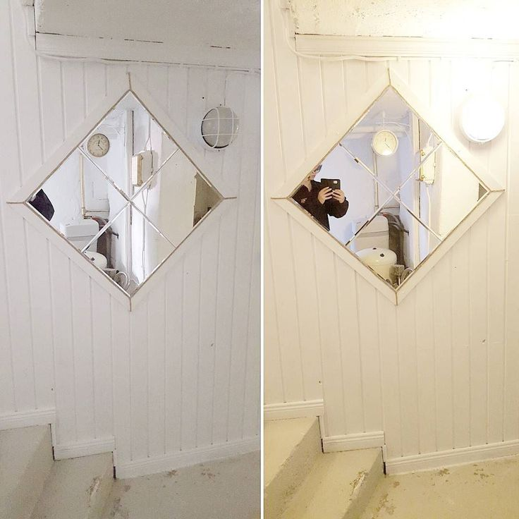 En svart gammal spegel fick ett nytt liv med hjälp av lite vit färg och snöre  ___________________________________________________  A black old mirror got a new life thanks to some white paint and strings  #doityourself #becreative #hem #pyssla #creative #händig #craft #dekoration #selfmade #homedecor #tips #idea #lifestyle #inspiration #homemade #hobby #pyssel #hemgjord #decoration #diy #design #gördetsjälv #kreativ #inredningstips #bästasomfinns #inredning #inredningsdesign #interiör…