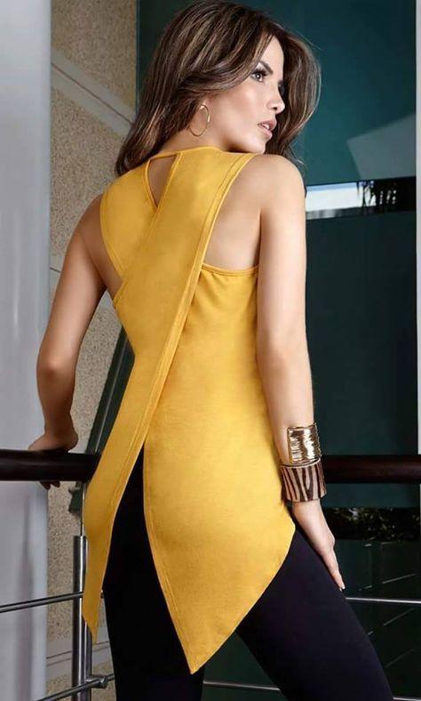Patrón y costura : Blusa cruzada en la espalda.Cosemos juntas mayo 2016 diy