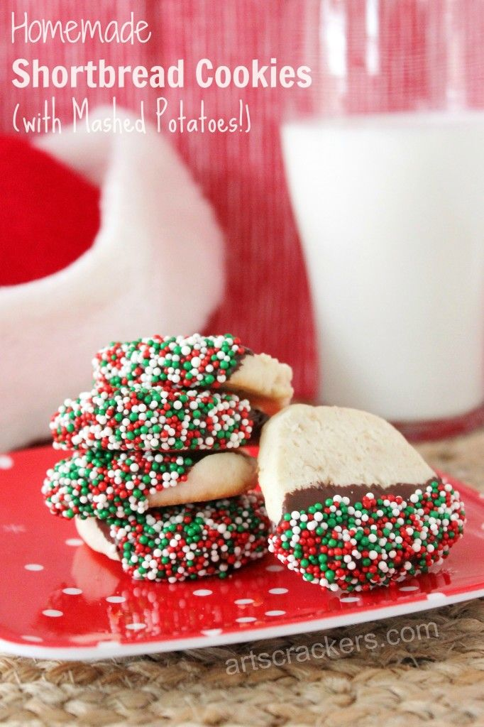 OMG these are amazing!!! Mashed potato cookies - sneaky!! Shortbread Cookies with Idahoan Mashed Potatoes Recipe