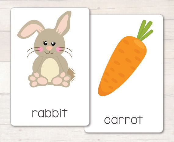 Easter Vocab Flash Cards new and updated! Now with 28 Easter themed vocabulary words, all with super cute bright images! #busylittlebugs #etsy #tptpins #easterprintables