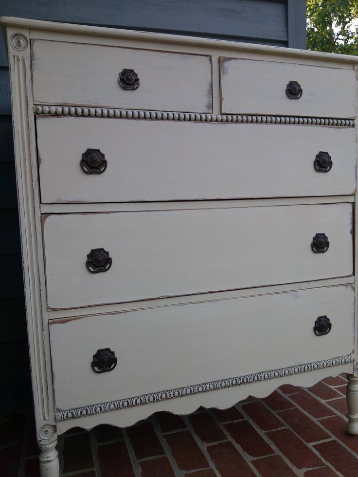 General Finishes Milk Paint. Linen and Antique white with dark aging wax.  https: - 35 Best General Finishes Images On Pinterest General Finishes