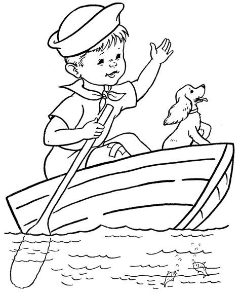 Dibujos de barcos para colorear   decoracion guarde   Pinterest ...
