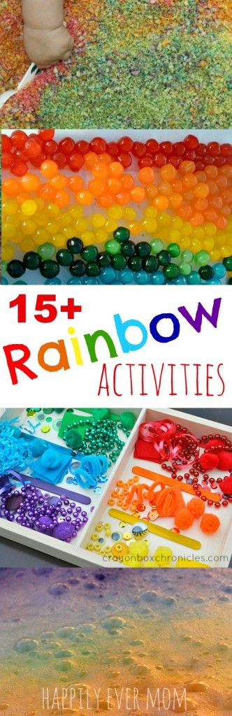 Fun rainbow activities for kids - love the edible recipes for little ones, too.