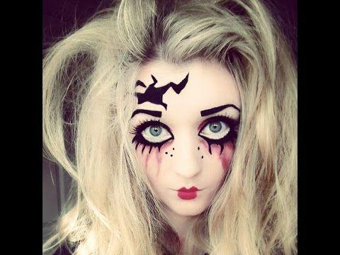 Halloween Makeup Tutorial - Creepy Doll - YouTube