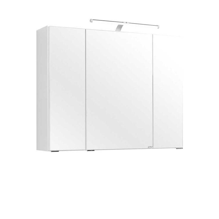 Bad Spiegelschrank mit LED Leuchte 80 cm breit Jetzt bestellen unter: https://moebel.ladendirekt.de/bad/badmoebel/spiegelschraenke/?uid=00c00709-c5b2-5817-82f9-e6c3a7012f0a&utm_source=pinterest&utm_medium=pin&utm_campaign=boards #badezimmerkommode #bad #beistellschrank #spiegelschrank #spiegelschraenke #badschrank #badmoebel #badspiegelschrank #spiegel #badeschrank #lichtspiegelschrank #badezimmerspiegelschrank #badezimmer