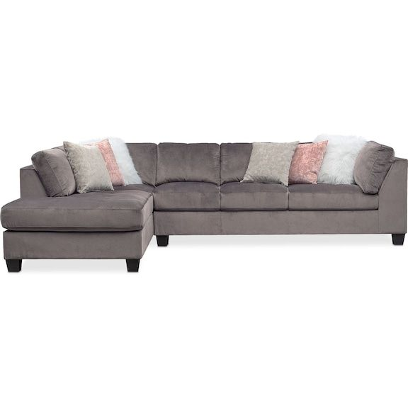 Mackenzie 2 Piece Sectional With Chaise Furniture White Furniture Living Room Furniture Clearance