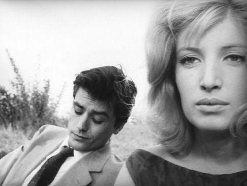 Alain Delon and Monica Vitti in 'L'eclisse', 1962.