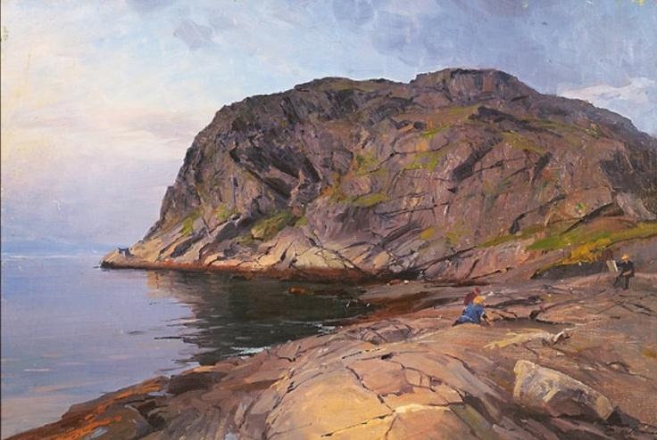 Even Ulving 1863-1952 : «Maler ved staffeli i kystlandskap»