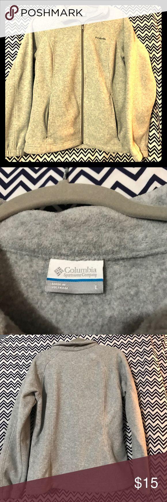 Gray Columbia fleece size L Cute gray Columbia zip front fleece size L Columbia Jackets & Coats