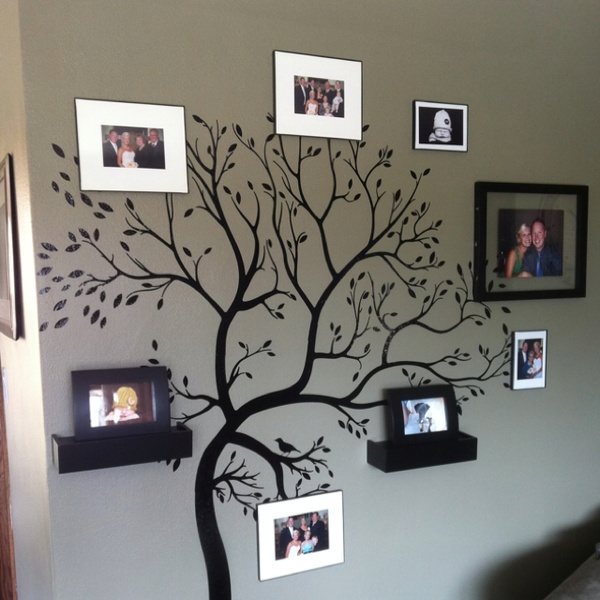 Family tree on my living room wall! What an amazing idea!!!