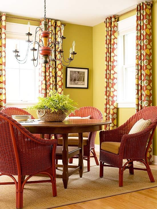 Dining Sets Time To Break Up Colorful RoomsRed RoomsYellow RoomDining Room DecoratingDecorating IdeasDecor