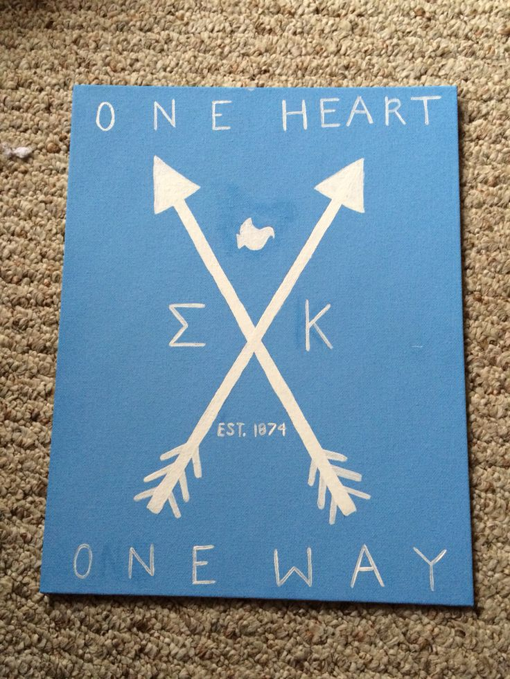 Sigma kappa sorority big little canvas