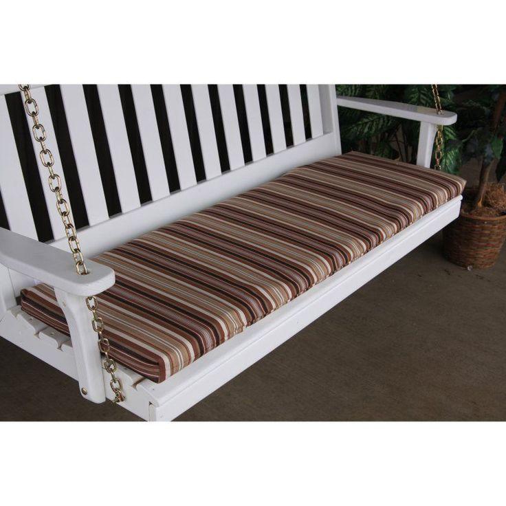 A & L Furniture Sundown Agora 55 x 17 in. Cushion for Bench or Porch Swing