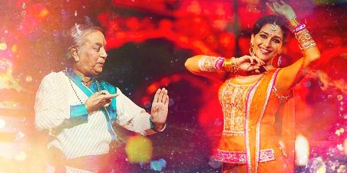 Madhuri Dixit and Pandit Birju Maharaj