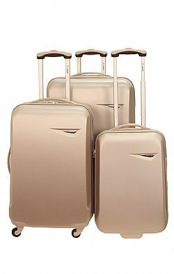 Set of three suitcases very lightweight durable material and easy to carry with 3 years warranty.