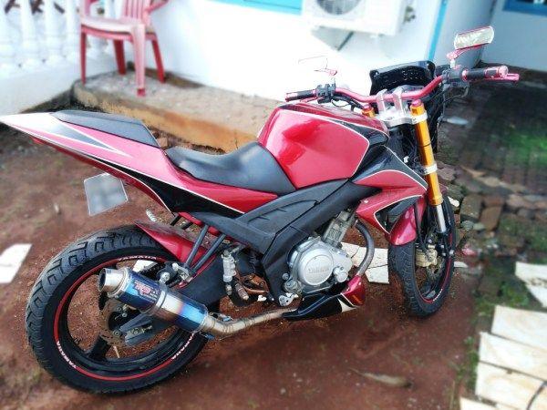 Modifikasi motor Yamaha Vixion 2008 / Vixion Lama Merah full Modif