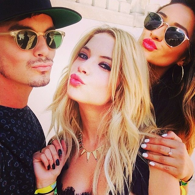 Tyler Blackburn, Ashley Benson, and Shay Mitchell.