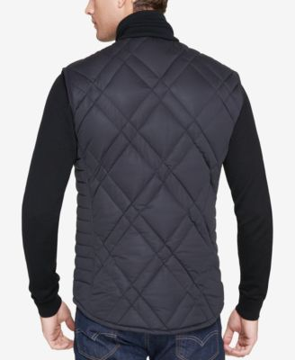 Andrew Marc Men's Eden Quilted Full-Zip Vest - Black 2XL