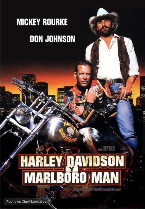 Harley Davidson And The Marlboro Man Argentinian Dvd Cover Bikes