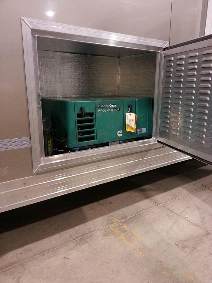 onan generator in a logan coach trailer | features | trailer generator,  horse trailers, trailer manufacturers
