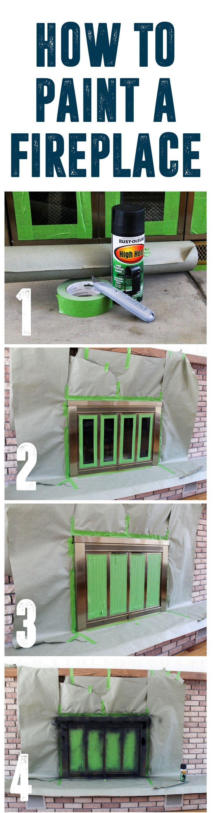 Spray Paint a Brass Fireplace