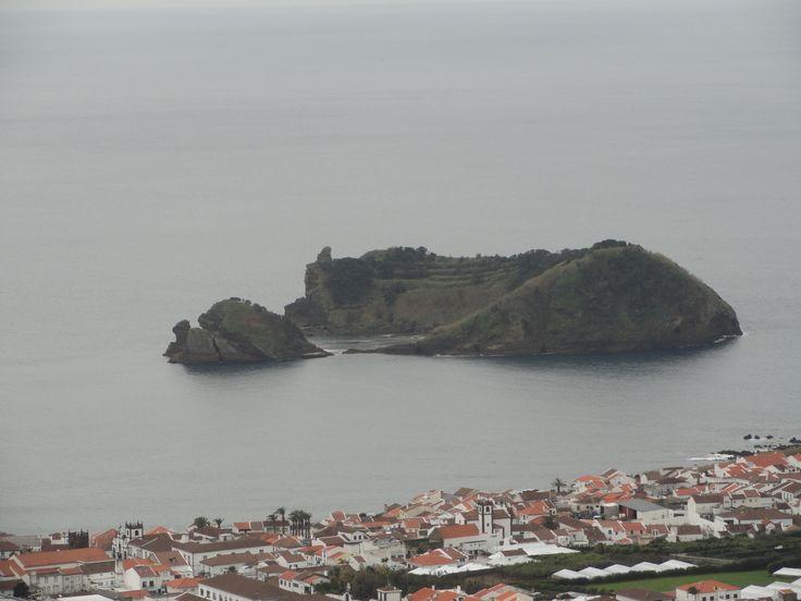 Ilheu de Vila Franca do Campo.  The view from Nossa Senhora da Paz church.  In the summer you can take the ferry over to the island. Taken 2-21-14