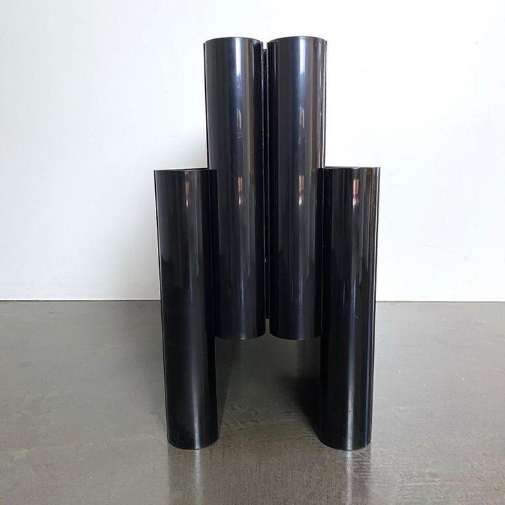 schwarzer kartell zeitungsstaender von giotto stoppino 4676 etsy