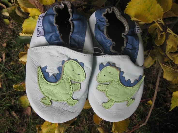 Dinosaurs  #TwoSoles #Baby # Leather #Toddlershoes