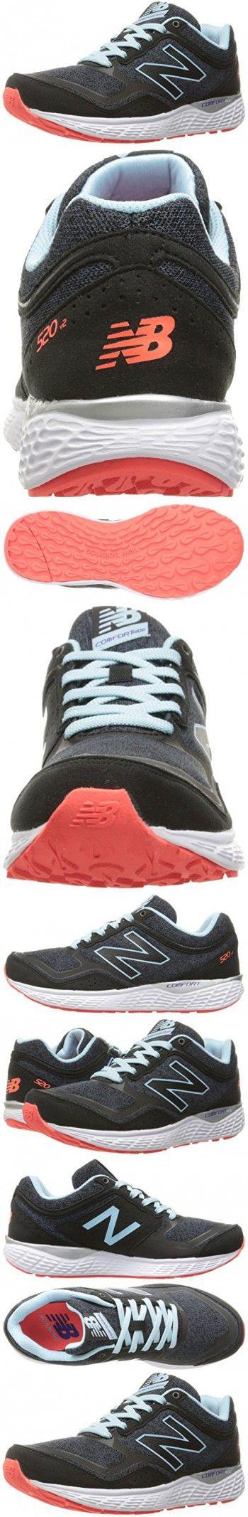 New Balance Women's 520v3 Running Shoe, Black/Thunder, 8 D US
