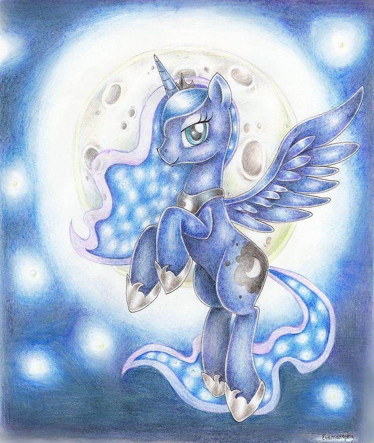 Картинки пони принцесса луна для срисовки