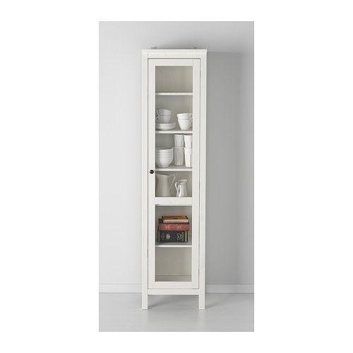 HEMNES Glass-door cabinet - white stain - IKEA