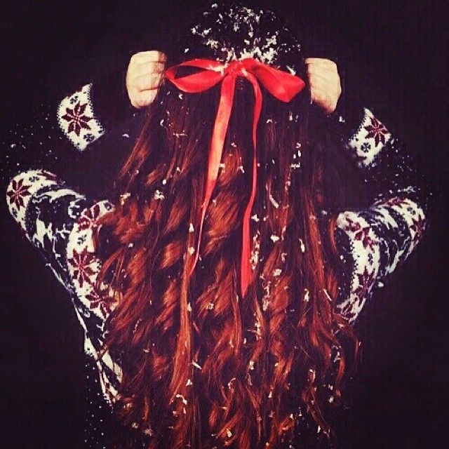 Beautiful! #bow #sweater #winter #hair #cbdsalon #waynenjsalon