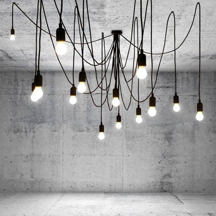 Seletti Hanglamp Maman Tentacularity bestaande uit 14 lampen en 14 snoeren zwart - wonenmetlef.nl