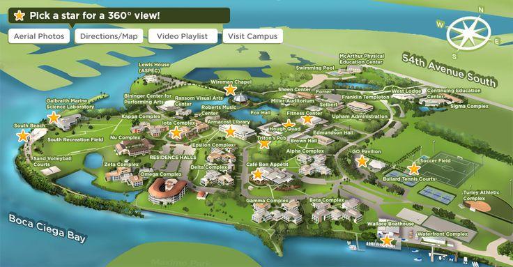 campus map eckerd college pinterest