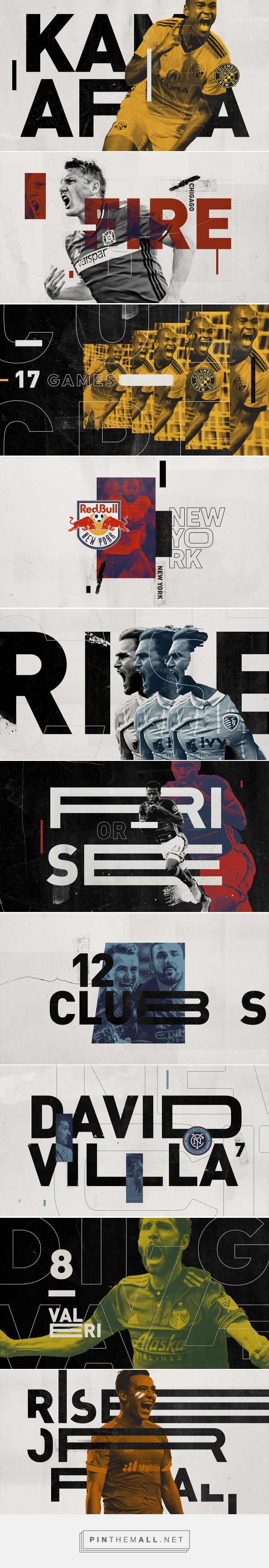 Major League Soccer on Behance - created via https://pinthemall.net