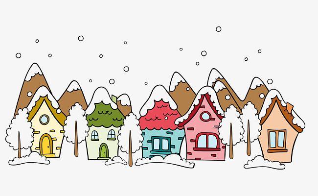 كرتون الشتاء تغطيها الثلوج في الهواء الطلق Winter Snow Winter Cartoon