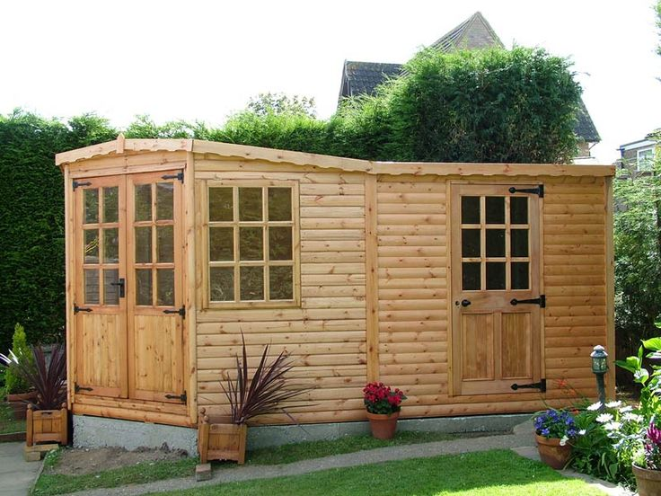 41 best summerhouses images on pinterest future house for Shed office combo