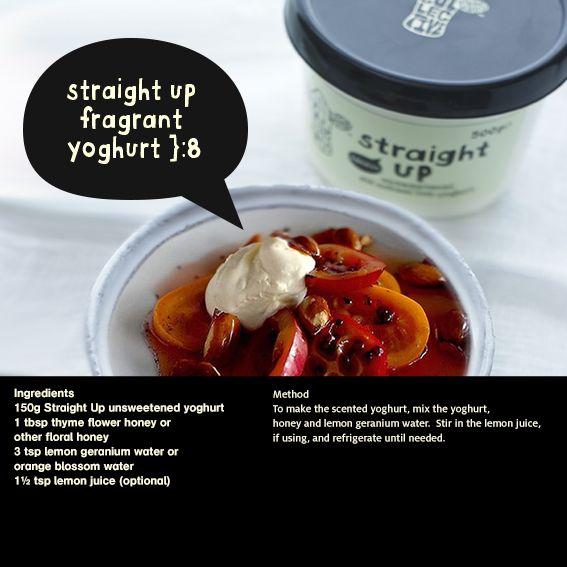 fragrant yoghurt on top of roasted fruit *glorious* #hungryherd #gr8dairynobull }:8