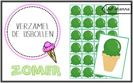 Thema zomer: verzamel de ijsbollen