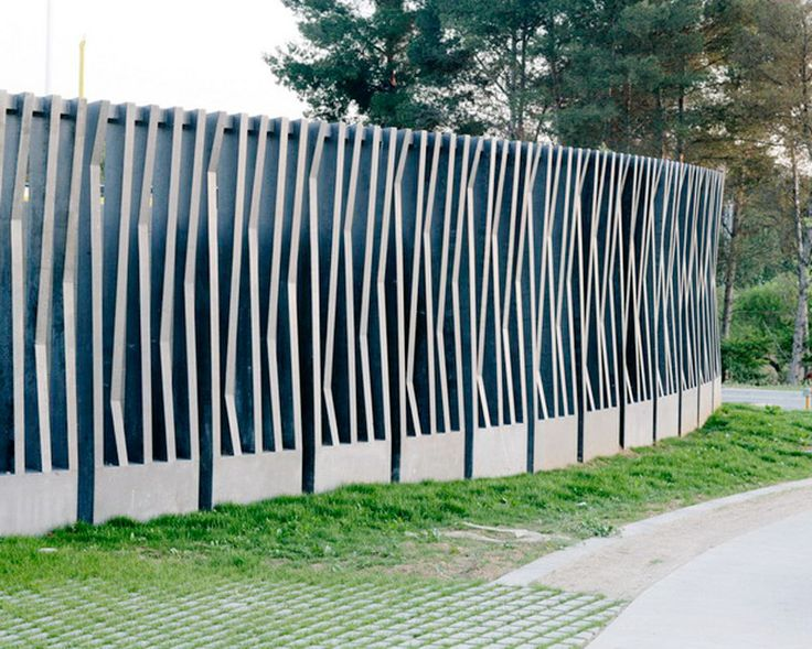 Park Boundary Wall Design : Best landscape boundary structures images on