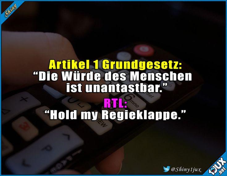 RTL sieht das wohl als Herausforderung. #Fernsehen #Würde #typischRTL #Memes #Jodel #Sprüche