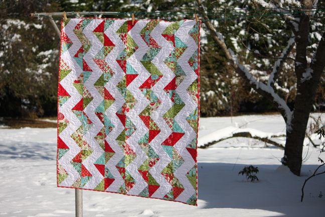 Zig Zag Quilt Pattern No Triangles : 17 migliori immagini su Zig zag quilts su Pinterest Tessuti, Triangoli meta quadrati e Zaino ...